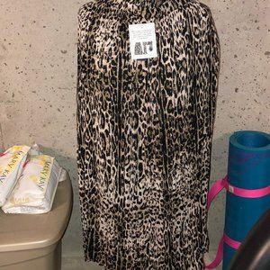 Crinkled Leopard Skirt Sz 3X